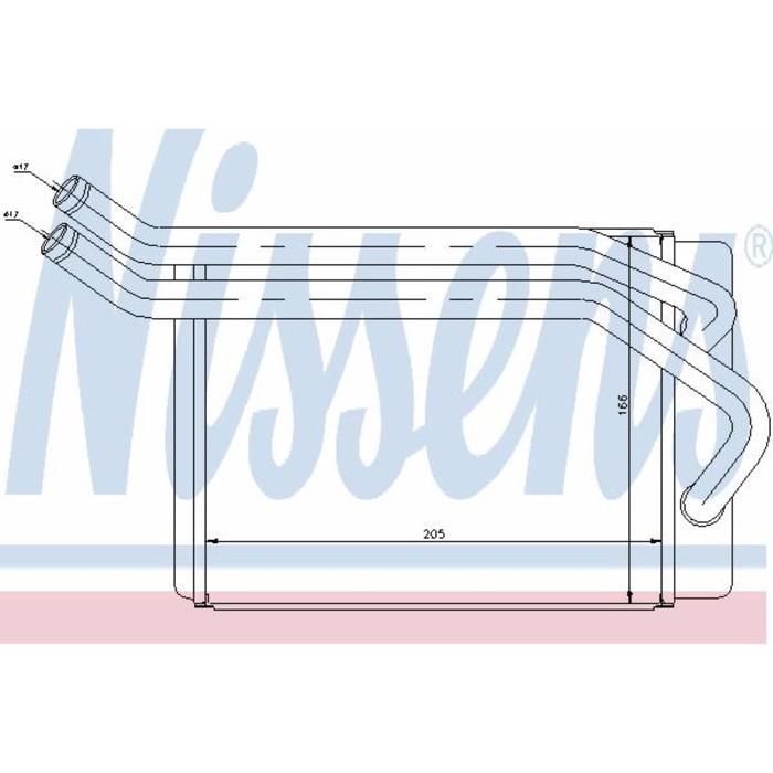 Радиатор печки NISSENS 77614