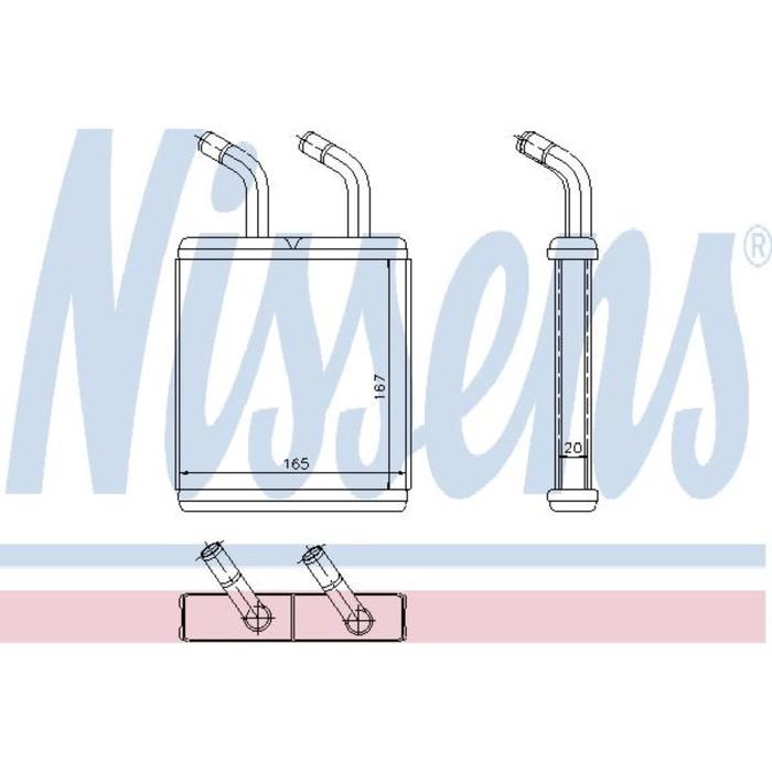 Радиатор печки NISSENS 77514