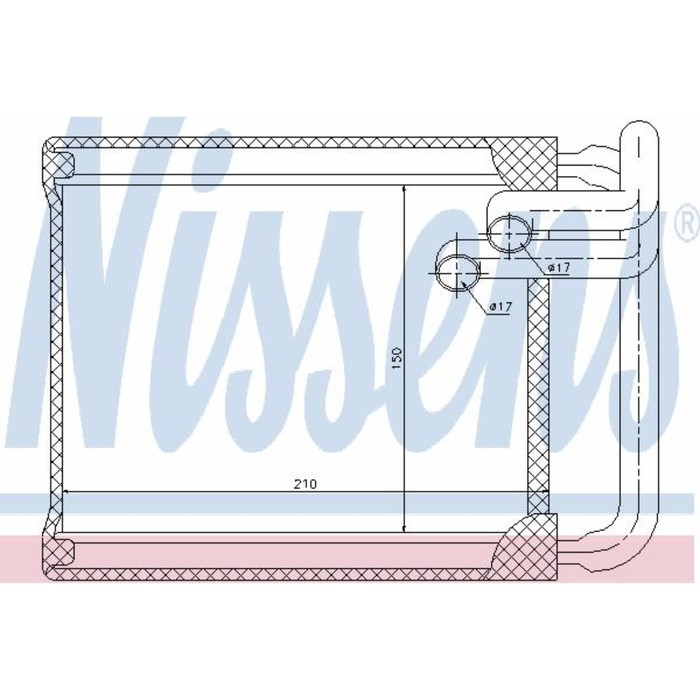 Радиатор печки NISSENS 77632