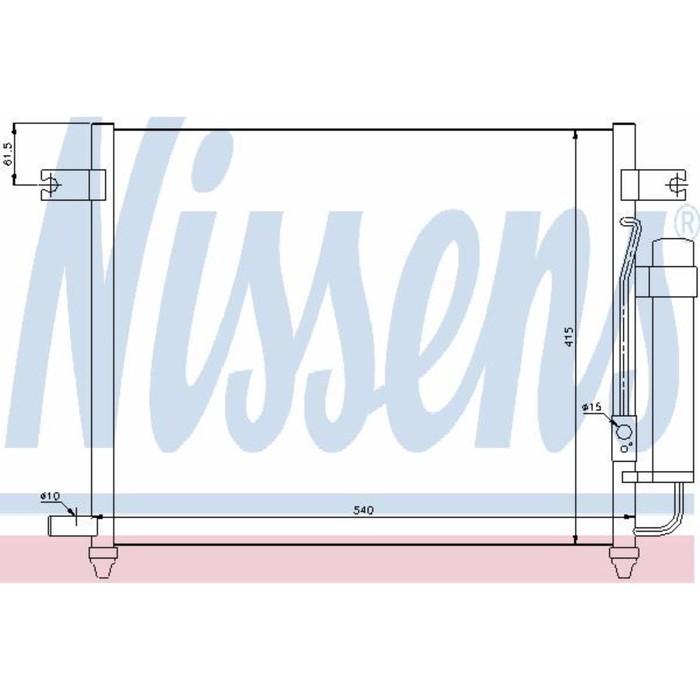 Радиатор кондиционера NISSENS 94640