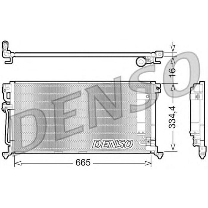 Радиатор кондиционера Denso DCN45003