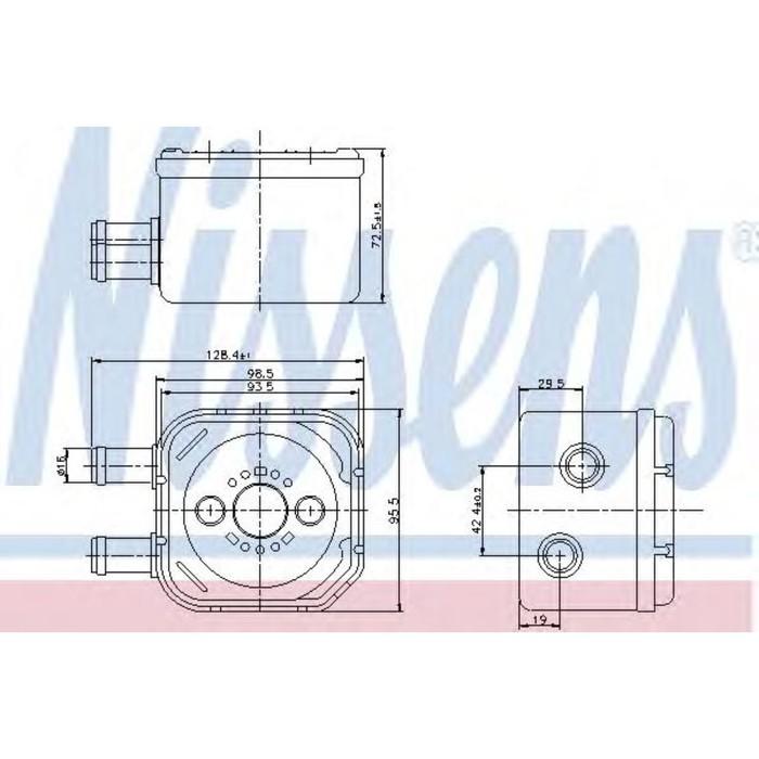 Радиатор масляный NISSENS 90652