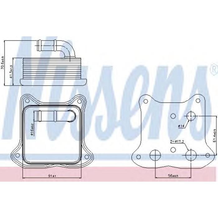 Радиатор масляный NISSENS 90680