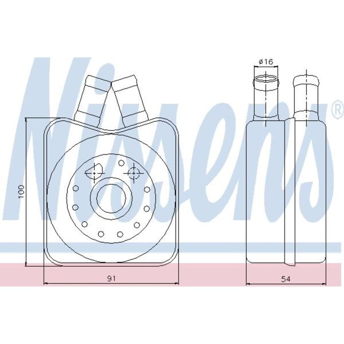 Радиатор масляный NISSENS 90607