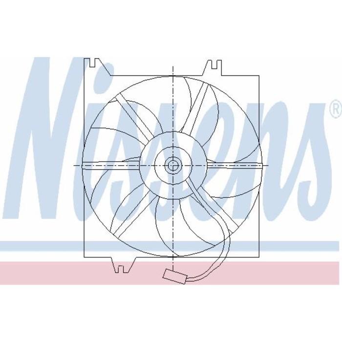 Вентилятор двигателя  NISSENS 85085