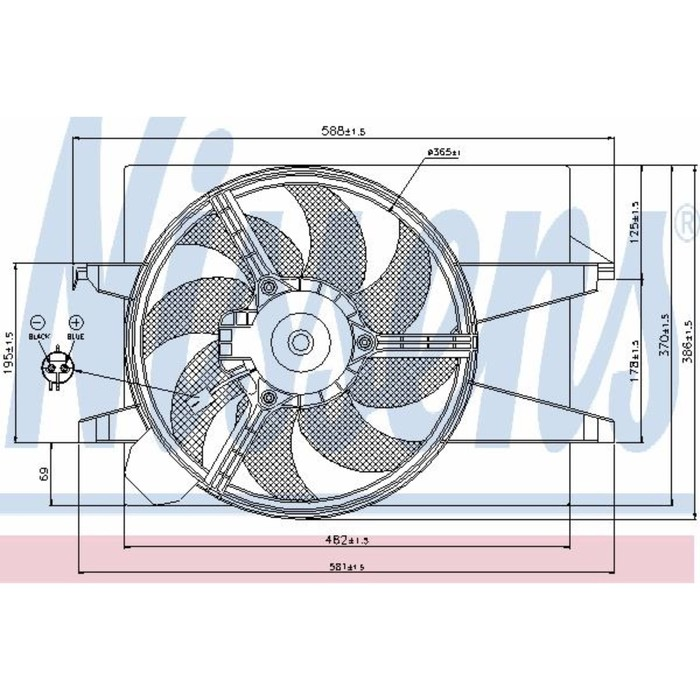 Вентилятор двигателя  NISSENS 85030