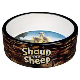 Миска  Trixie Shaun the Sheep керамическая, 0.3 л/ф 12 см, коричневая