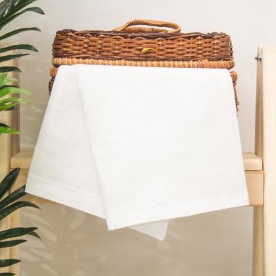 "Towel plain ""Share"", white, 45x60± 3 cm"