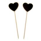 Набор меловых сердечек-вставок 6,5х5,5х22см, 2 шт.