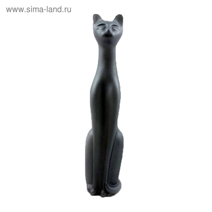"""Сувенир """"Кошка Египетская №12"""" металик асфальт"""