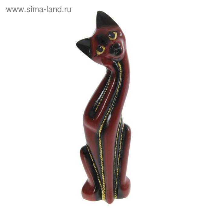 """Копилка """"Кошка Муся"""" красно-чёрная"""