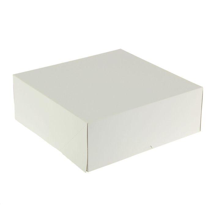 Кондитерская упаковка, короб, белый 28,5 х 28,5 х 6 см - фото 308035207