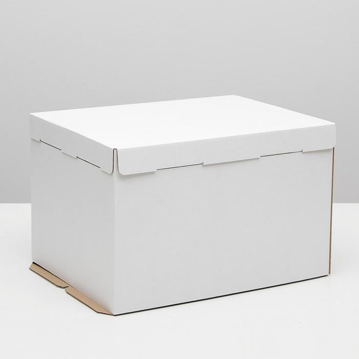 Кондитерская упаковка, короб белый 30 х 40 х 26 см