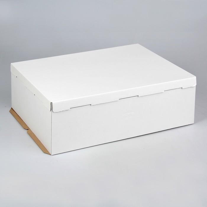 Кондитерская упаковка, короб белый 60 х 40 х 21 см