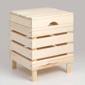 """Ящик для белья из дерева """"Табурет-2"""", 40×40×52см, """"Добропаровъ"""""""