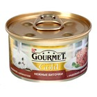 """Влажный корм GOURMET GOLD """"Нежные биточки"""" для кошек, индейка/шпинат, ж/б, 85 г"""