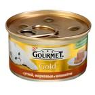 Влажный корм GOURMET GOLD для кошек, утка/морковь/шпинат по-французски, ж/б, 85 г