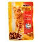 Влажный корм FRISKIES для кошек, индейка/печень в подливе, пауч, 100 г