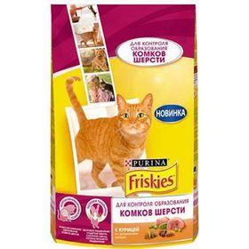 Сухой корм FRISKIES для кошек, против комочков шерсти, курица/овощи, 300 г