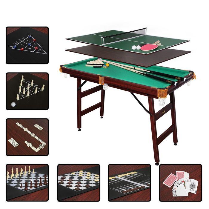 Бильярдный стол Fortuna РП, 4фт, 9 в 1, с комплектом аксессуаров