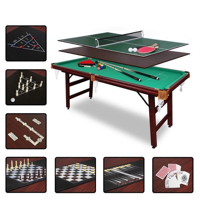 Бильярдный стол Fortuna Пул 5фт 9в1 с комплектом аксессуаров