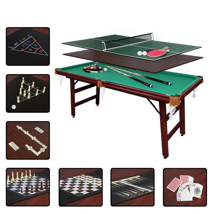 Бильярдный стол Fortuna Снукер, 6фт, 9 в 1, с комплектом аксессуаров