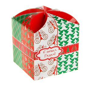 "Gift box ""Merry Christmas tree"", the national team, 9 x 9 x 9.5 cm"