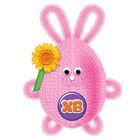 """Игрушка из меховых палочек, набор для создания """"Пасхальный кролик"""" + глазки, пенопл.яйцо"""