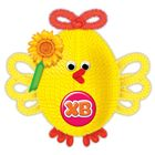 """Игрушка из меховых палочек, набор для создания """"Пасхальная птичка"""" + глазки,пенопл.яйцо, стр"""