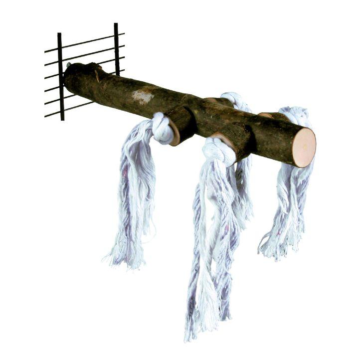 Жердочка Trixie деревянная, 25 см, с веревкой.