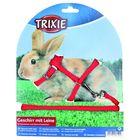 Шлейка Trixie с поводком для кроликов, 25-44 × 0.8 см / 1.3 м, микс