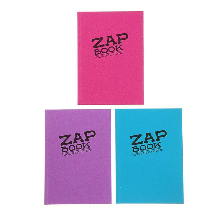Блокнот для рисунков А6 80 г/м2 Clairefontaine Zap Вook 160 листов, склейка, 4 вида 3357С