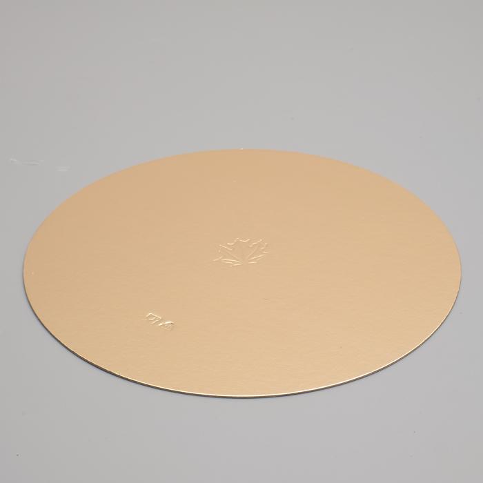 Подложка кондитерская, круглая, золото-жемчуг, 24 см, 1,5 мм - фото 305207530