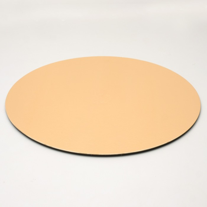 Подложка кондитерская, круглая, золото-жемчуг, 36 см, 1,5 мм - фото 308035215