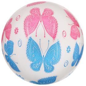 Мяч детский Бабочки d=22 см, 60 гр, цвета микс Ош