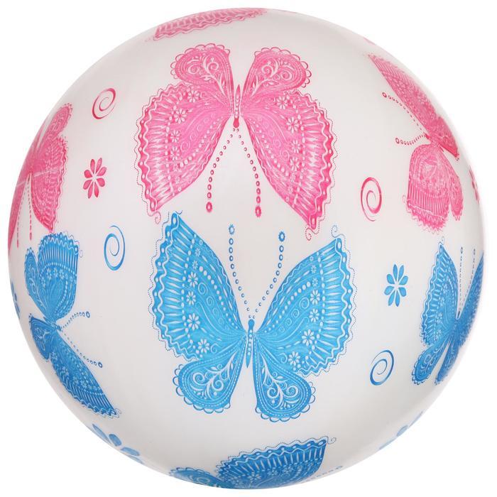 Мяч детский «Бабочки», d=22 см, 60 г, МИКС