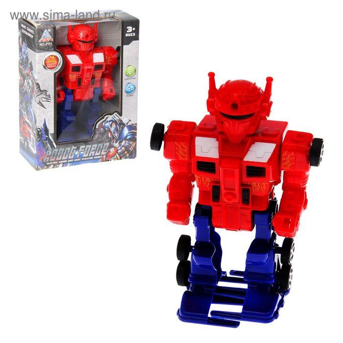 """Робот """"Космический стражник"""", световые и звуковые эффекты, ходит, цвета МИКС"""