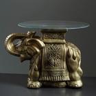 "Стол ""Слон"" золото 56см, полистоун"