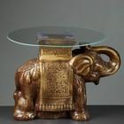 """Стол """"Слон"""" коричневый 56см, полистоун"""
