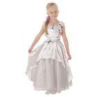 """Карнавальное платье """"Принцесса 002"""", р-р 60, рост 110-116 см, цвет белый"""