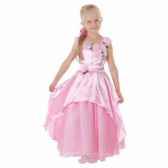 """Карнавальное платье """"Принцесса 002"""", р-р 64, рост 122-128 см, цвет розовый"""