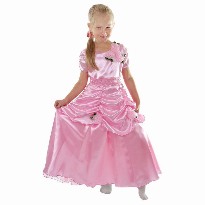 """Карнавальное платье """"Принцесса 005"""", р-р 60, рост 110-116 см, цвет розовый"""