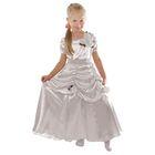 """Карнавальное платье """"Принцесса 005"""", р-р 60, рост 110-116 см, цвет белый"""