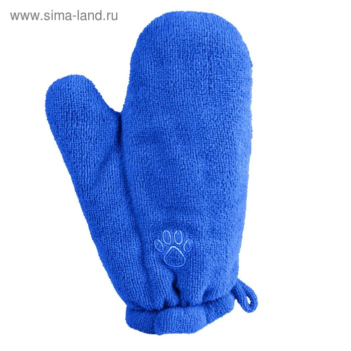 Рукавица-полотенце Trixie, 28 х 18 см, микрофибра, голубой