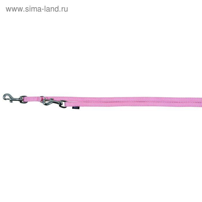Поводок-перестежка Trixie Premium, 2 м × 1 см (XS), розовый