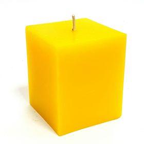Свеча куб, жёлтая, 5х5.7см