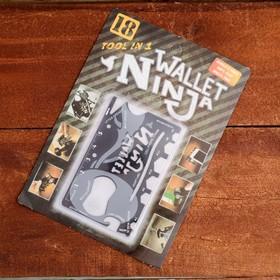 Карта выживания в чехле Wallet ninja 0,5х5,5х8,5см Ош