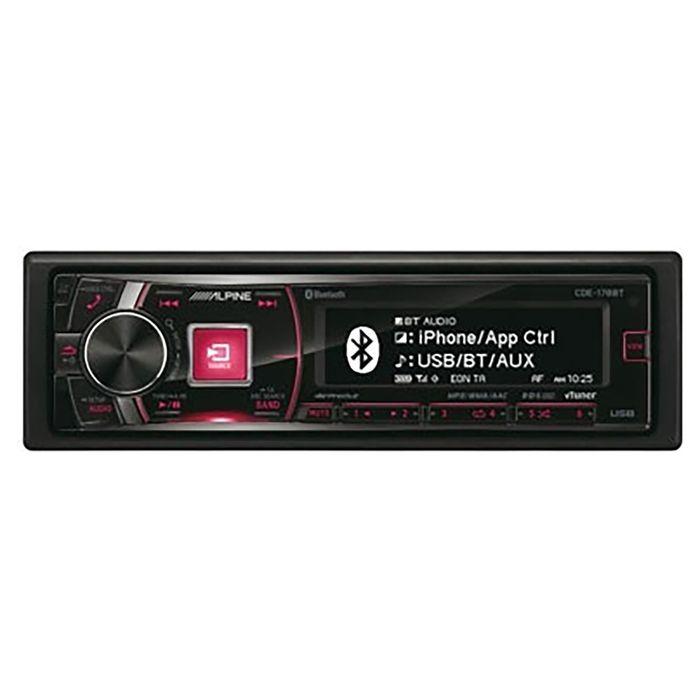 Автомагнитола CD Alpine CDE-178BT 1DIN 4x50Вт