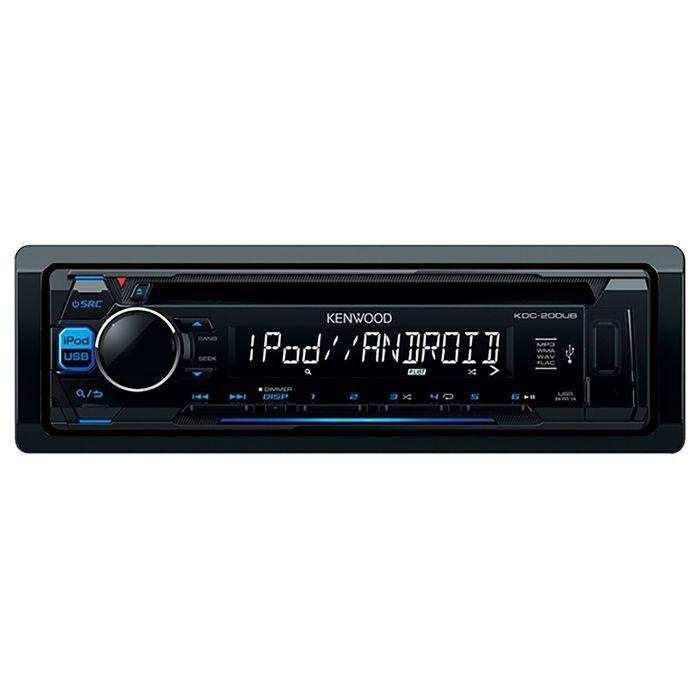 Автомагнитола CD Kenwood KDC-200UB 1DIN 4x50Вт