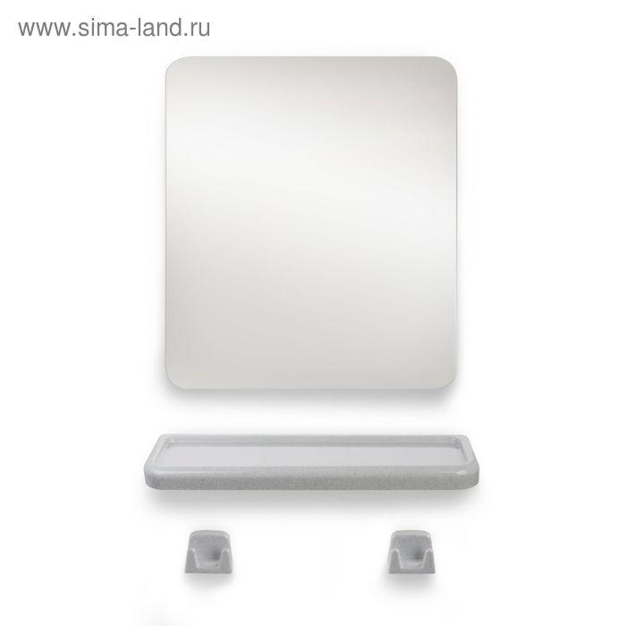 """Набор для ванной комнаты """"Minima"""", цвет белый мрамор"""